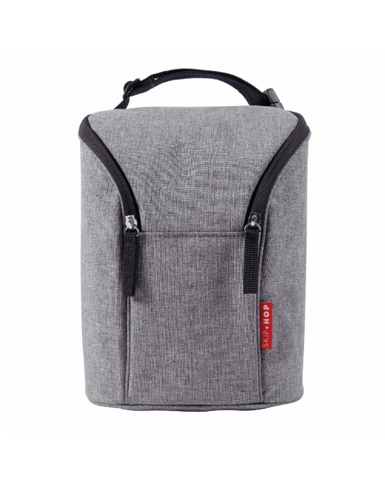 skip hop etui na butelki heather grey