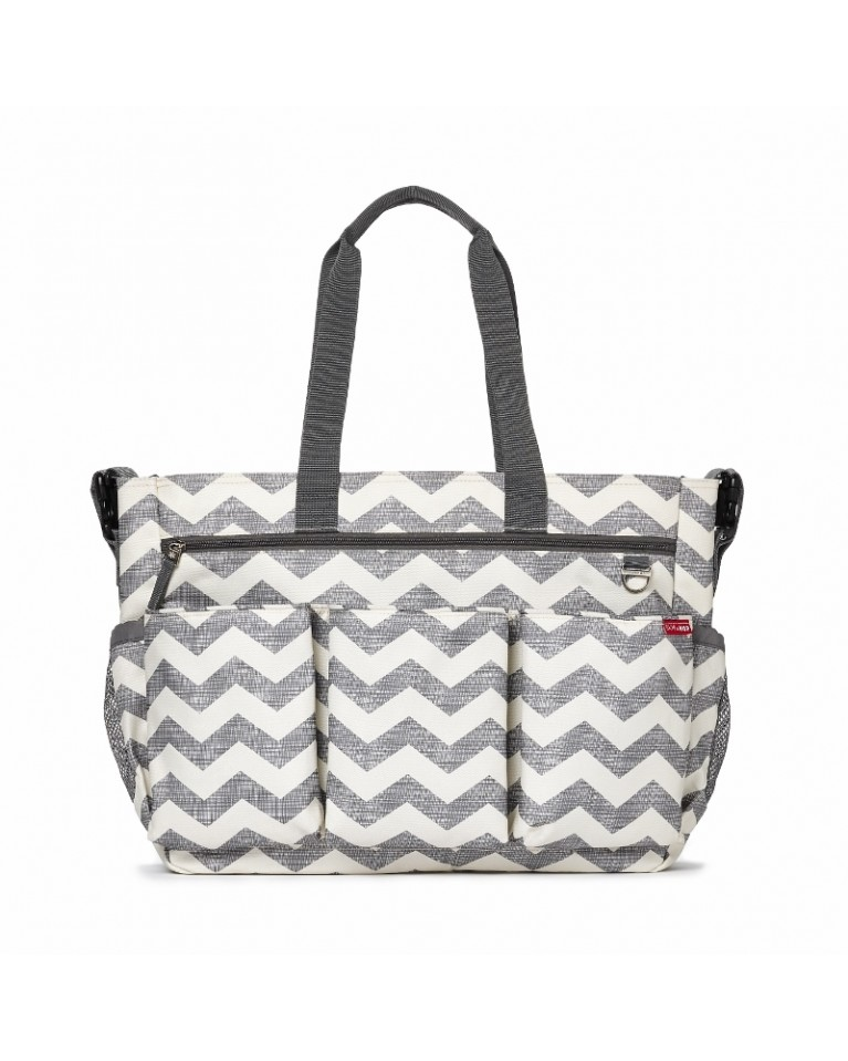 skip hop torba do wózka double signature chevron
