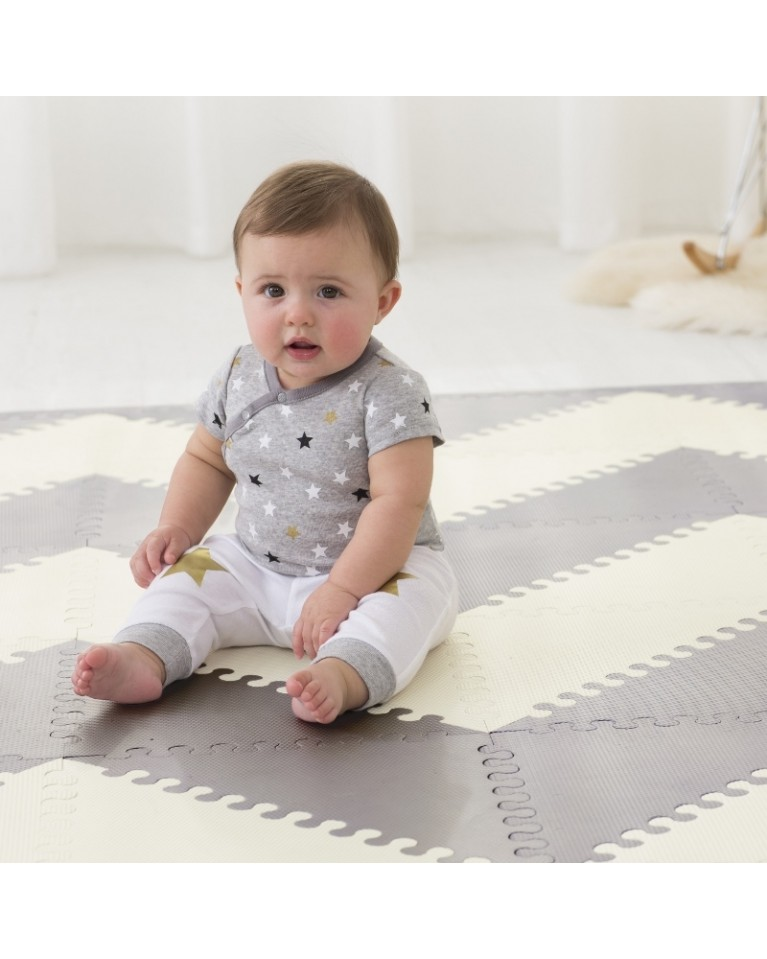 mata playspot grey cream