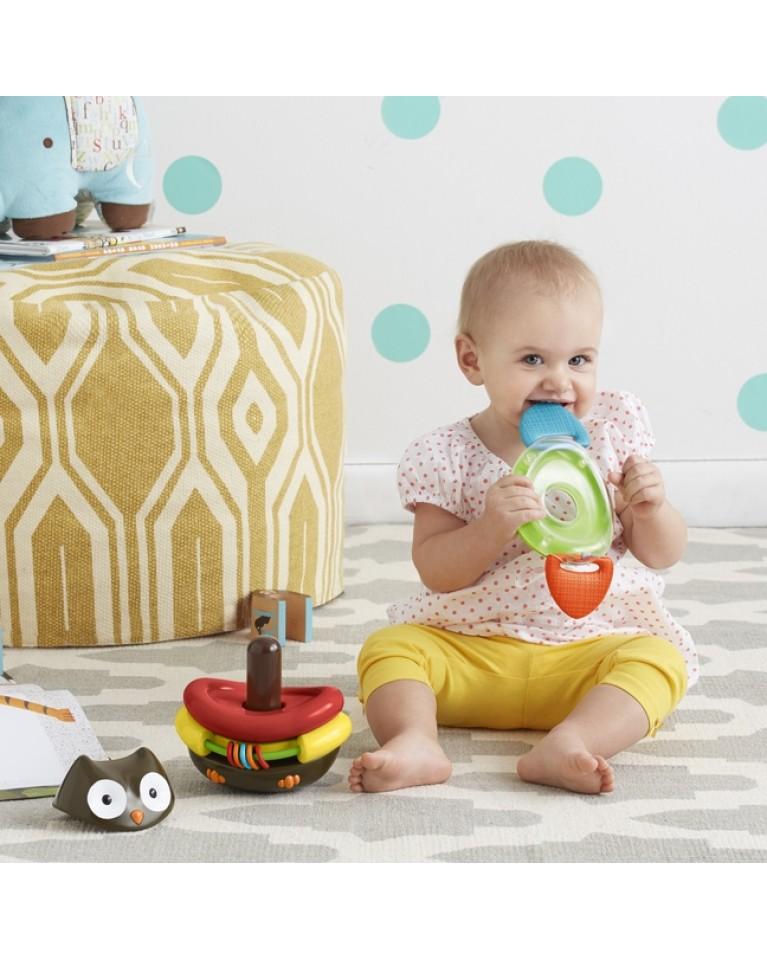 skip hop zabawka dla niemowląt nakładanka sowa