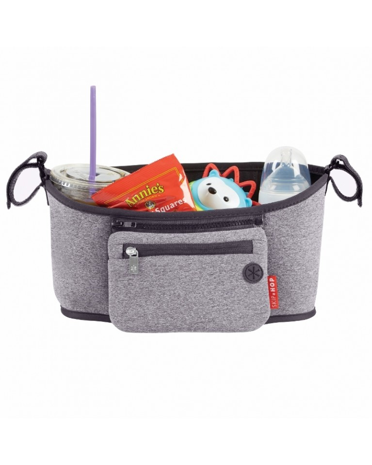 skip hop organizer do wózka heather grey