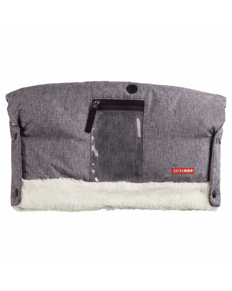skip hop mufka do wózka szara heather grey