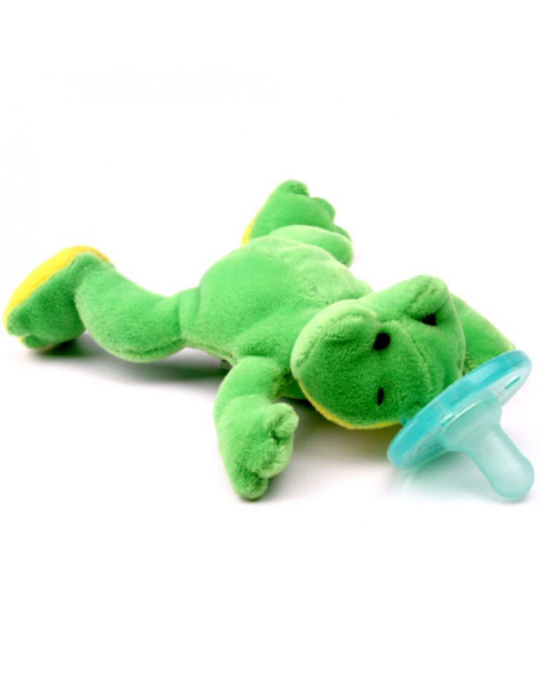 wubbanub smoczek i przytulanka żabka