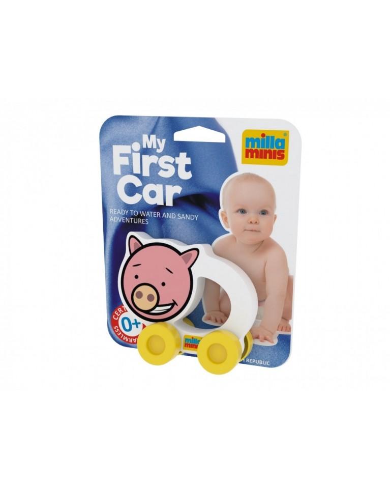 Milla Minis My first car piankowa zabawka sensoryczna na kółkach świnka Pigy
