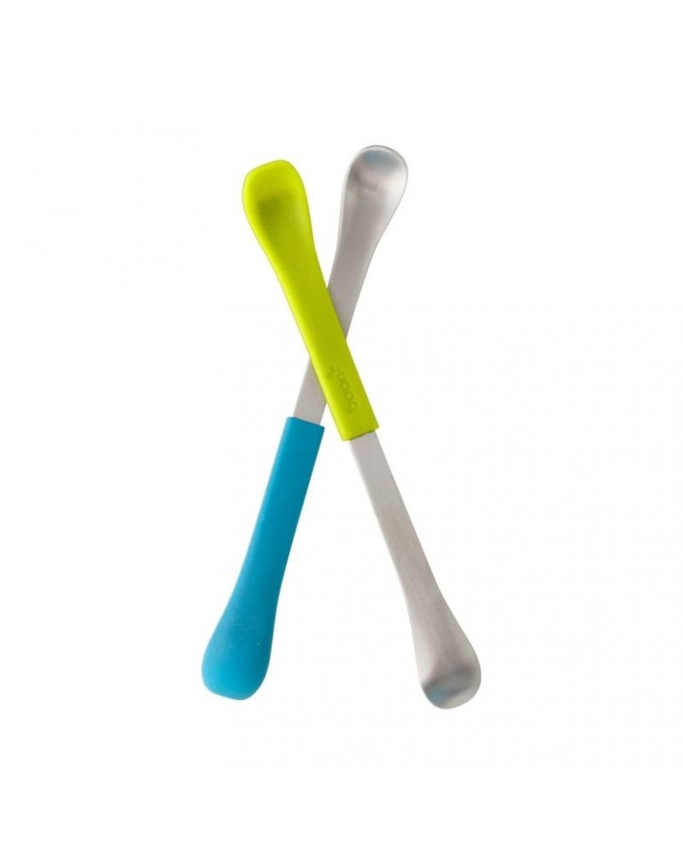 Dwustronne łyżeczki blue/green