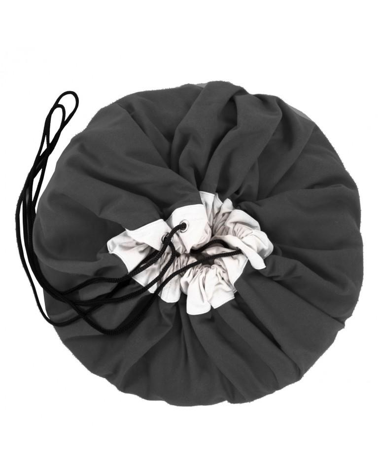 worek na zabawki czarny