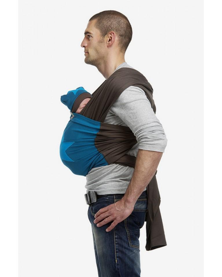 bykay chusta do noszenia dzieci z aplikacją blue & blue star