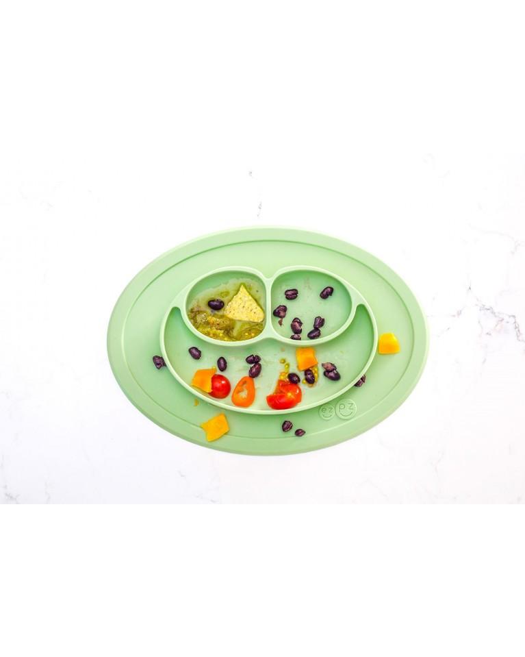 ezpz mini talerzyk pastelowa zieleń