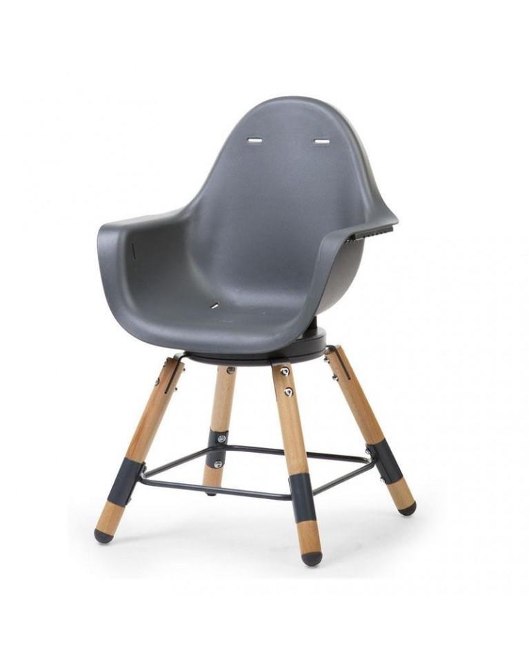 Evolu one 80 biały antracyt childwood krzesełko do karmienia