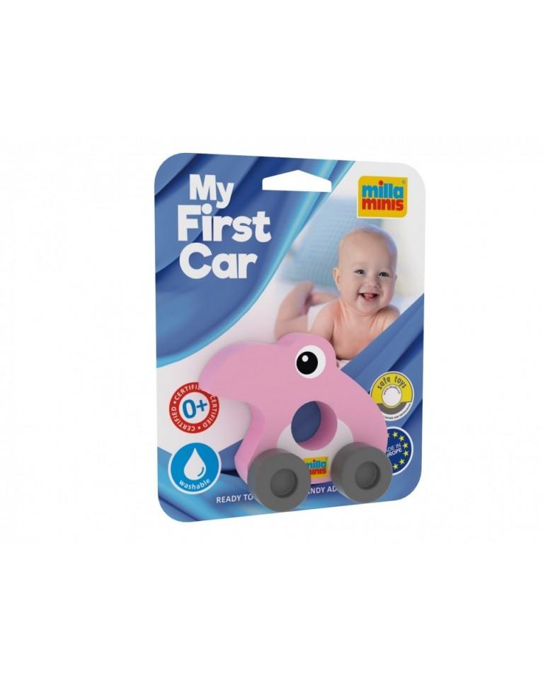 Milla Minis My first car piankowa zabawka sensoryczna na kółkach flaming