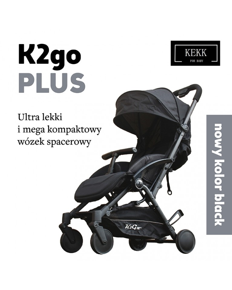 Wózek spacerowy KEES K2go Plus black
