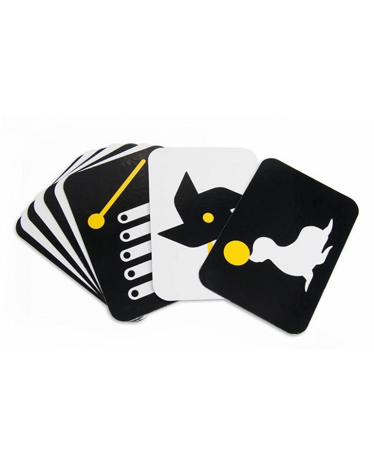 karty czarno białe