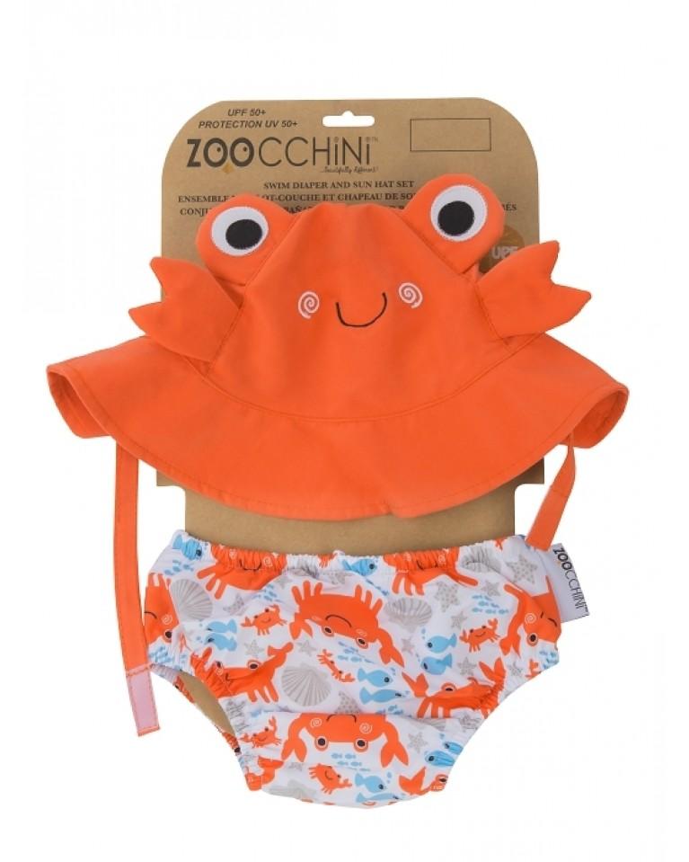 zestaw na plażę dla noworodka rozmiar s krab