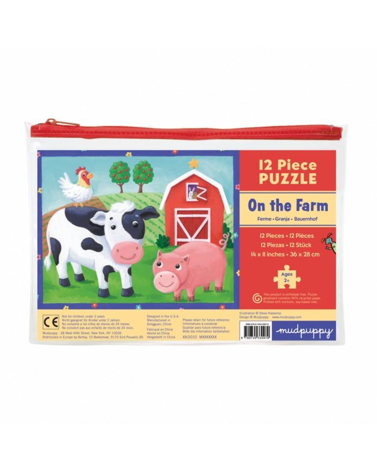 mudpuppy moje pierwsze puzzle farma