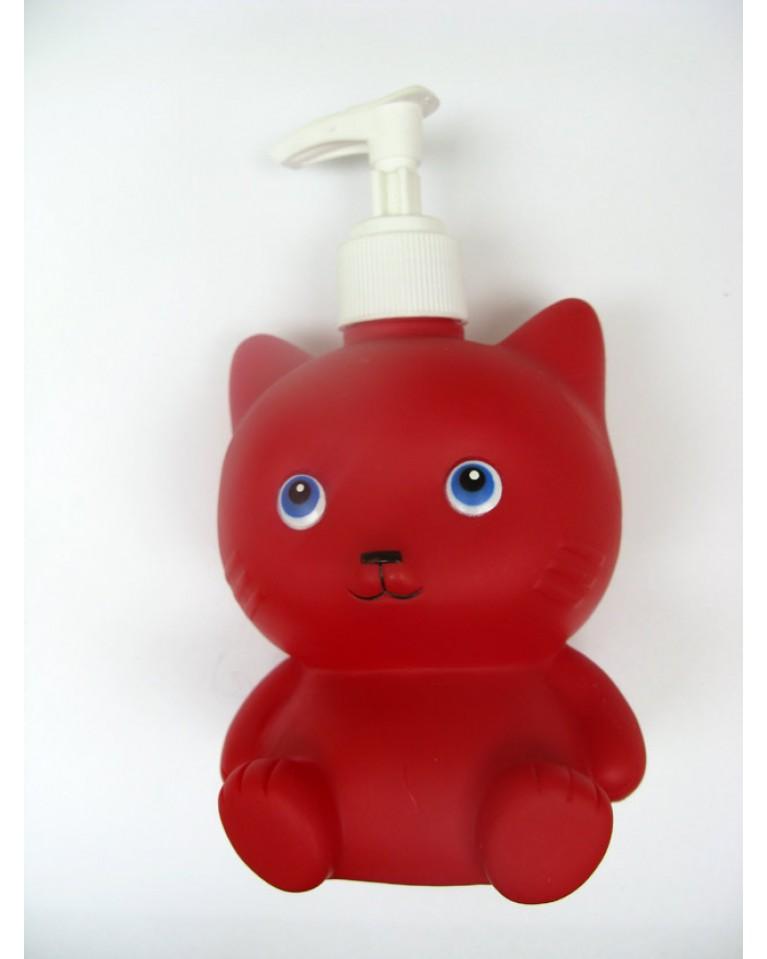Dozownik na mydełko czerwony