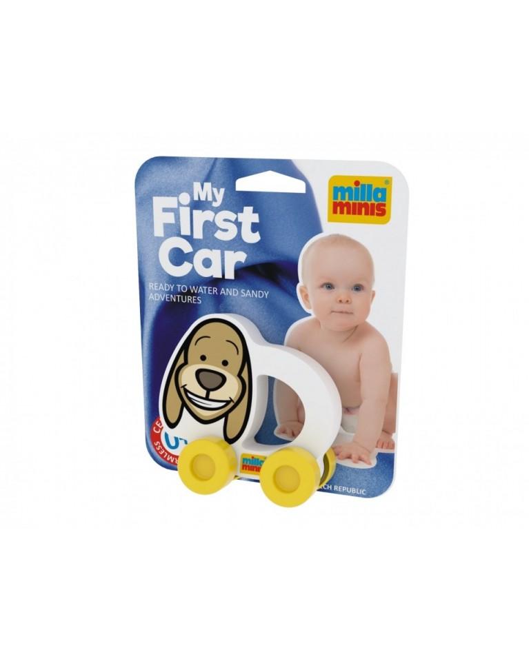 Milla Minis My first car piankowa zabawka sensoryczna na kółkach piesek Bert