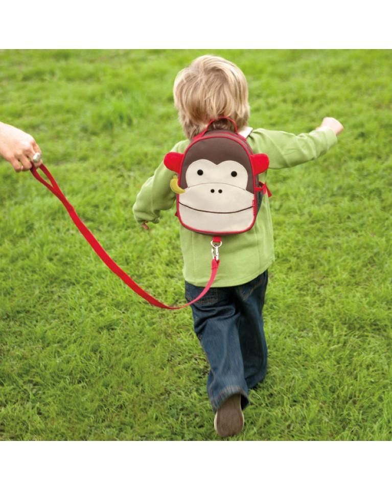 skip hop plecak ze smyczką małpa