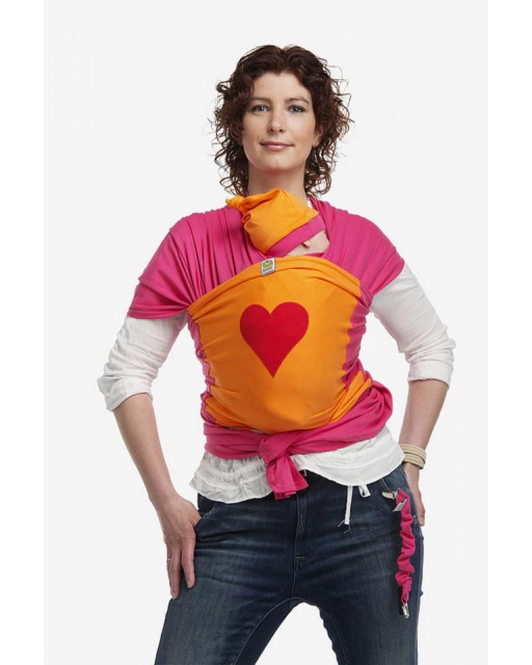 bykay chusta do noszenia dzieci z aplikacją red heart