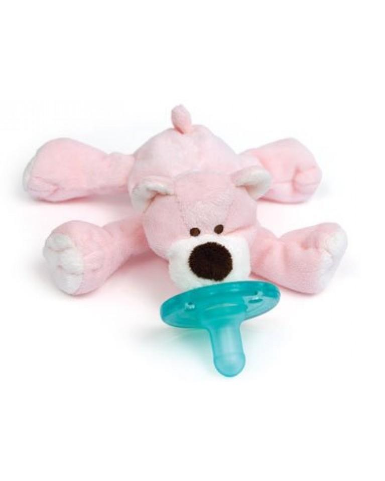 wubbanub smoczek i przytulanka różowy miś