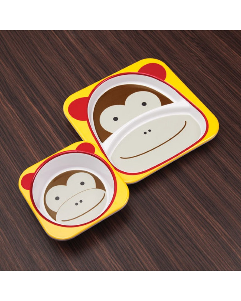 skip hop zestaw jedzeniowy małpa