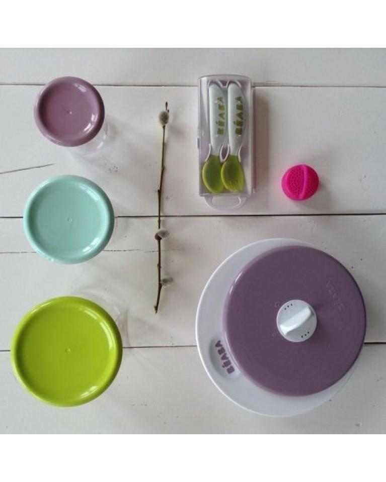 beaba sztućce dla dziecka plastikowe w etui
