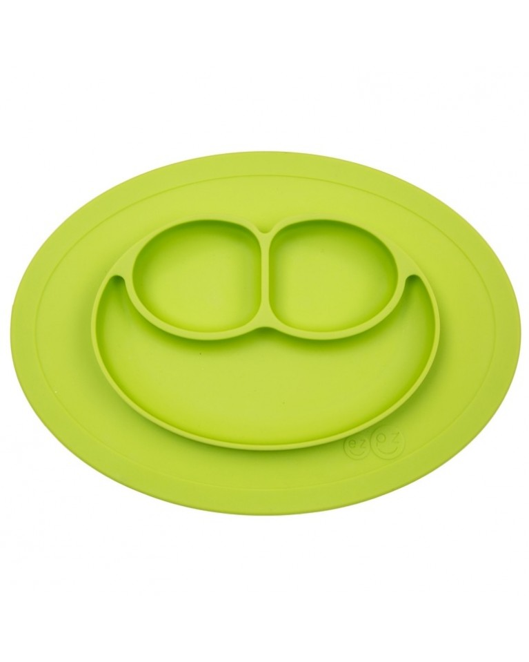 ezpz talerz z podkładką mini zielony