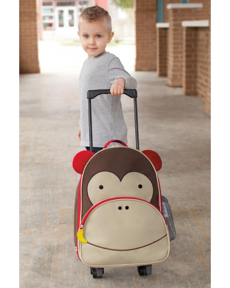 skip hop walizka dziecięca zoo małpa