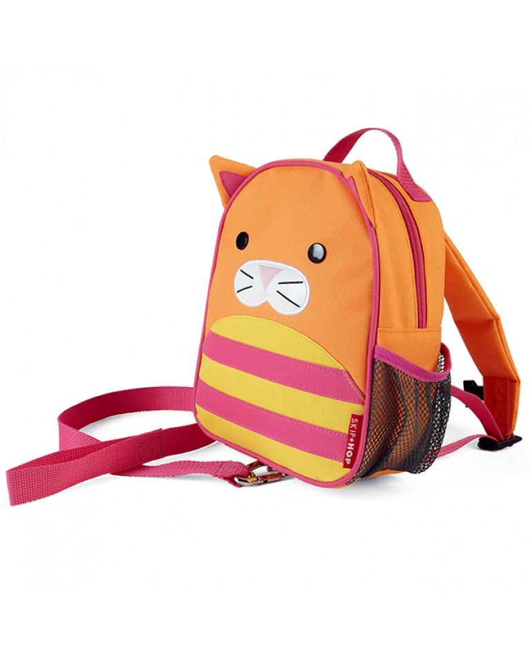 skip hop plecaczek ze smyczką zoo kot