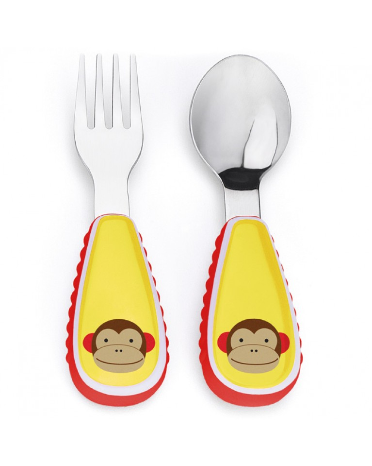 skip hop sztućce dla dziecka małpa