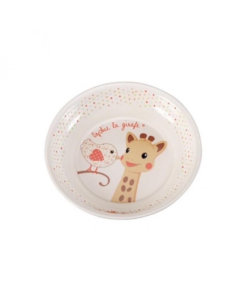 zestaw do jedzenia z żyrafą Sophie i Kiwi