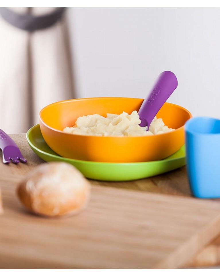 ekoala zestaw obiadowy dla dzieci bioplastik