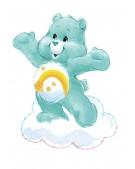 EZPZ silikonowy talerzyk z podkładką 2w1 Care Bears™ Mat Misia Życzliwe Serce Wish Bear turkusowy