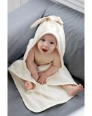 Wooly Organic ręcznik organiczny z kapturem zajączek