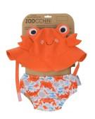 zestaw czapka i majtki kąpielowe krab s