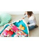 play&go worek na zabawki turkusowy