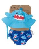 zestaw kąpielowy rekin ludi czapeczka i pieluszka