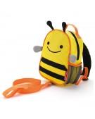 skip hop plecak ze smyczką pszczółką